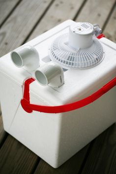 Keep cool while camping. Home made air conditioning unit.