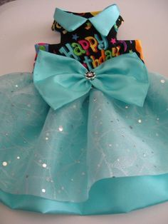 DIY Pets Crafts : DIY Happy Birthday harness dress for the best by MissMuffinsCloset