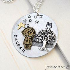Custom Art necklace personalized jewelry special by JewelMango