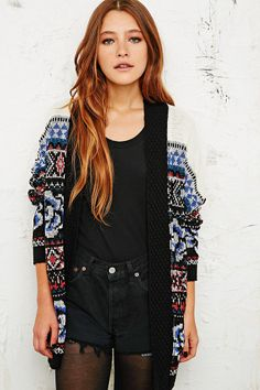 Staring at Stars Mexican Floral Cardigan