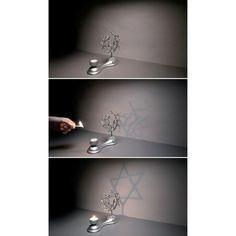 Tree of Life Star of David shadow