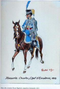 Comandante di squadrone ussari croati