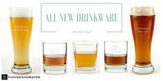 NEW Drinkware at Things Engraved Drinkware, Beer, Root Beer, Tumbler, Ale, Glass