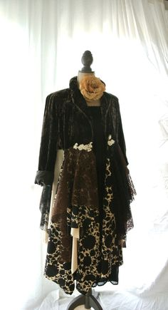 Velvet jacket Gypsy vagabond coat bohemian by TrueRebelClothing, $140.00