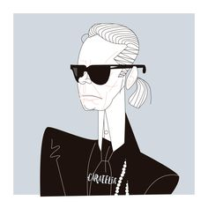 Karl Lagerfeld Illustration ✍#caratelia #illustration #retratos #tucara #portait #regalos #cuadros #barcelona #pictureoftheday #karllagerfeld #vogue #voguemagazine #chanel #karl #ny #nyc #designer #lagerfeld #sunglasses #fashionblogger #fashion
