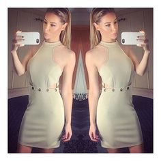 Barely there in nude by @laurenpopey in her #AW15 Stone Eyelet Dress Get this and the full collection online now... Shop here  inthestyle.com