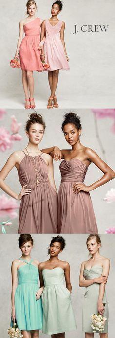 J.Crew Bridesmaid Dresses http://www.theperfectpalette.com/2013/06/bridesmaid-dress-youll-love-j-crew.html