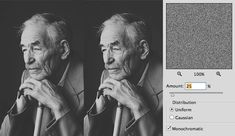 Image result for photoshop tutorial b/w grain