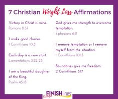 Make Christ the center of your weight loss with these 7 Christian Weight Loss affirmations and Bible verses to remind you daily of your new life in Jesus. Quick Weight Loss Tips, Weight Loss Help, Reduce Weight, Weight Loss Program, How To Lose Weight Fast, Losing Weight, Smoothies, Look Here, How To Slim Down
