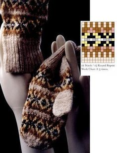 Fair Isle mittens and gloves (charts) - Monika Romanoff - Picasa Web Albums Knitted Mittens Pattern, Knit Mittens, Mitten Gloves, Knitting Charts, Knitting Patterns, Fair Isle Pattern, Fair Isle Knitting, Yarn Projects, Hand Warmers