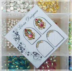Nail Jewels, Gem Nails, Gift Wrapping, Gifts, Design, Beauty, Rose Nails, Nail Art, Work Nails