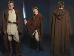 Star Wars and The Power of Costume - Obi-Wan Kenobi Costume Jedi, Costume Star Wars, Jedi Cosplay, Robe Jedi, Jedi Cloak, Jedi Tunic, Obi Wan, Jedi Robe Pattern, Capa Harry Potter