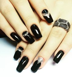 Pin for Later: 25 Black Nail Ideas to Break the Manicure Monotony Negative Space