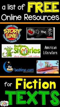 Check out this list of FREE online resources for finding great short Fiction texts for the classroom!