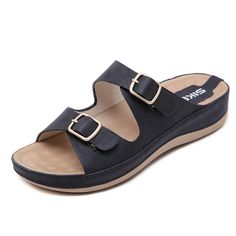 2d6ff37e0ac 2019 New Beach Sandals Comfortable Heavy-Soled Metal Slippers Material   Artificial PU Inner Material