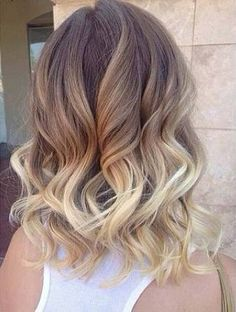 long bob ombre blonde - Google Search