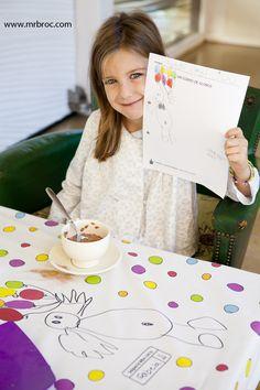 Manteles personalizado con los dibujos de tus niños. Regalos originales y que duran toda la vida. www.mrbroc.com