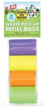 Bags On Board Rainbow Bag Refill Pack 4 Roll 60bag