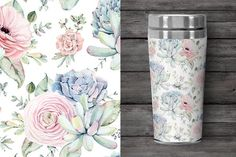Oh my Succulents watercolor set - Illustrations