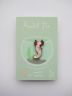 Axolotl enamel pin by HannahHitchman on Etsy