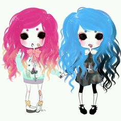 Pastel goth. Love how old school Goth is mixed with pastels . would like to find…