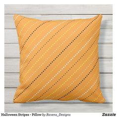 Shop Halloween Stripes - Pillow created by Ravens_Designs. Halloween Pillows, Orange Pillows, Silk Pillow, Halloween Design, Decorative Cushions, Art Pieces, Stripes, Throw Pillows, Ravens