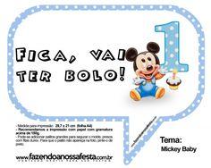 Plaquinhas Divertidas Mickey Baby: