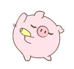 Cute Kawaii Animals, Cute Little Animals, Little Pigs, Rabbit Jokes, Pink Panter, Cute Piglets, Cute Love Gif, Happy Birthday Fun, Baby Pigs