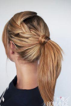 coiffure avec queue de cheval pour les cheveux mi-longs et cheveux longs !! http://www.pinterest.com/adisavoiaditrev/