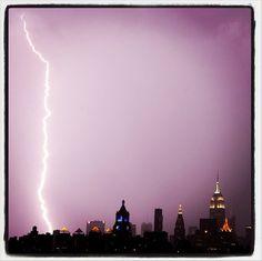 Lightning near Empire State Building