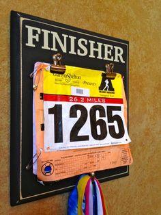Race bib Holder AND Medal display holder - Marathon, Half Marathon Gifts - FINISHER