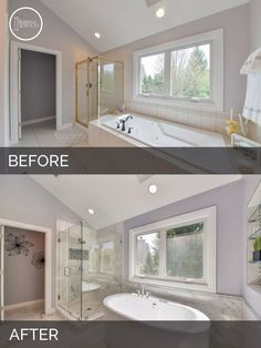 Before and After Master Bathroom Remodel Aurora - Sebring Services