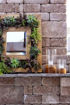 20 Mirror DIY initiatives which might be enjoyable and straightforward to construct Wood Framed Mirror, Diy Mirror, Unique Mirrors, Round Mirrors, Cactus, Rock Decor, Vintage Windows, Arte Floral, Succulents Diy