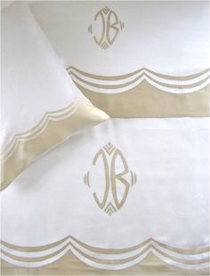 Julia B.  Embroidered linen with silk