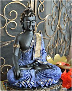 Buddha décor, Blue Buddha, Calming Buddha, Buddha collection