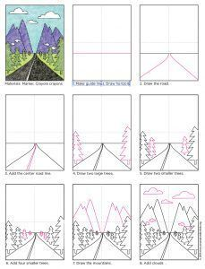 Here's a simple landscape tutorial that illustrates the vanishing point perspective. • View and Vanishing Point Road PDF tutorial