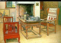 Carl Larsson titt-ut- j'aime beaucoup ce peintre, ses ambiances. Il a peint principalement toute sa famille