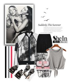 """""""Friendship"""" by sirenelisa ❤ liked on Polyvore featuring Topshop, Valentino and Fendi"""