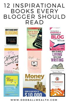 12 Inspirational Books About Blogging every Blogger Should Read Ways To Save Money, Money Tips, Make Money Blogging, Saving Money, Finance Blog, Inspirational Books, Money Management, Personal Finance, Internet Marketing