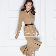 Gender: Women Outerwear Type: Wool & Blends Collar: Mandarin Collar Pattern Type: Solid Clothing Length: Long Sleeve Length: Full Type: Skirt Material Composition: 81% (inclusive) -90% (inclusive) Clo