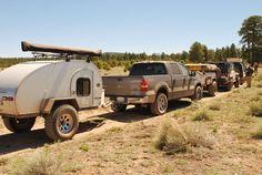 big wheels, small caravan