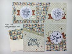 Stampin' Up! Designer Tin of Cards Kit coordinate with Moroccan Designer Series Paper.
