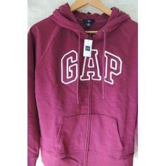 Buzo Gap Original C/capucha, Cierre Color: Purpura T: Medium