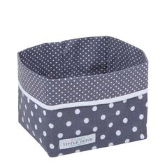 Little Dutch commodemandje in grijs met stipjes. Handig om de commode en de babykamer netjes te houden en je verzorgingsproducten tijdens de verzorging van je baby binnen handbereik te hebben.