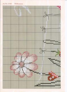 Gallery.ru / Фото #9 - 1 - Marina-Melnik Cross Stitch Charts, Cross Stitch Embroidery, Cross Stitch Flowers, Blackwork, Needlework, Whimsical, Projects To Try, Elsa, Pattern