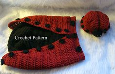 Ravelry: 518 Ladybug Cocoon and Hat pattern by Sandy Powers