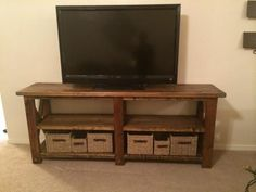 Rustic X TV Console Table | Do It Yourself Home Projects from Ana White