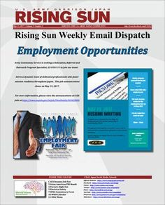 Rising Sun Weekly Email Dispatch for the week of May 15, 2017 (Volume 5, Number 3)  Weekly Informational Newsletter