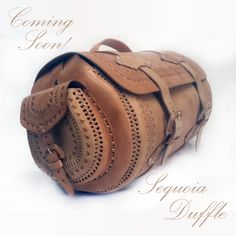 COMING SOON! The Sequoia Duffle is big and beautiful!  As with all purchases from Tesoro Perdido, 10% goes to help the street pups here in Cancun.