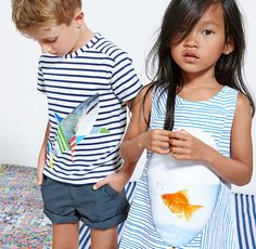 Cool fishy prints at Anne Kurris for spring 2016 kids fashion